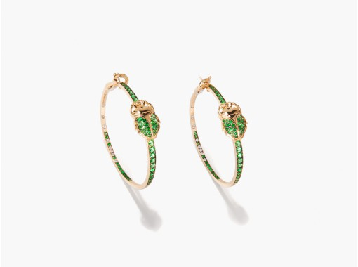 bidermann scarab-hoop-earrings