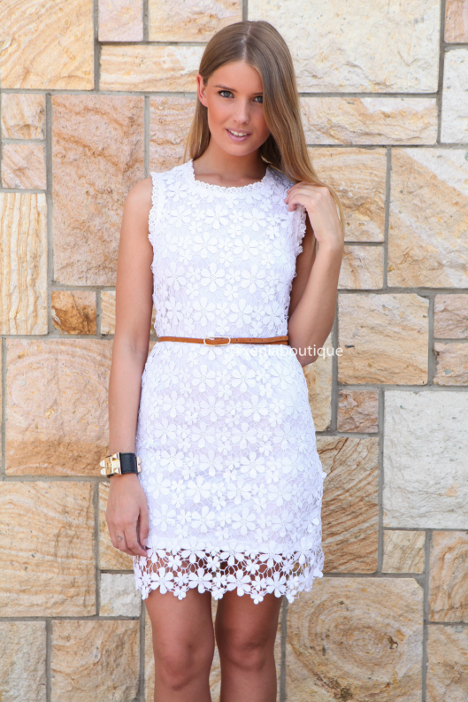 Daisy Chain Crochet Dress Xenia boutique